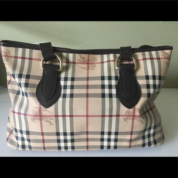 376bfdeda786 Burberry Handbags - Burberry Haymarket Check Medium Regent Tote